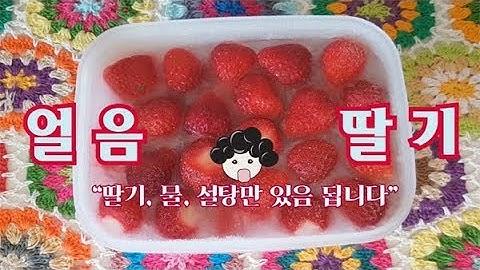 [딸기저장] 사계절 쭉 생딸기 느낌 그대로 냉동딸기만들기 / frozen strawberry : 일흔집밥