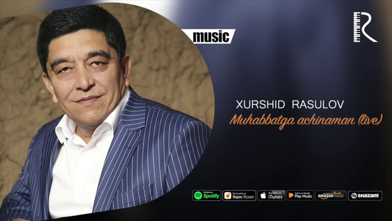 Xurshid Rasulov - Muhabbatga achinaman (live) (Official music)