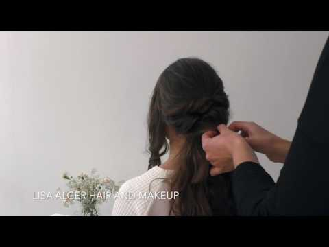 Elegant plaited wedding hair