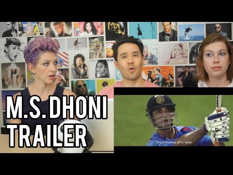 M.S. DHONI -  The Untold Story - Trailer REACTION!!