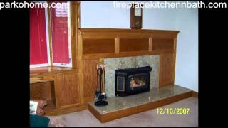Canton Fireplace Remodeling Full Brick Wall Reface In Oak