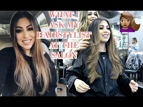 WHAT I ASK MY HAIRSTYLIST AT THE HAIR SALON & COME WITH ME!
