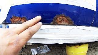 Удаляем ржавчину пискоструем на двери  Калина Часть 1. Рускии Тюнинг