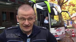 Polizeikontrolle von Fernbussen I Landesschau Baden-Württemberg