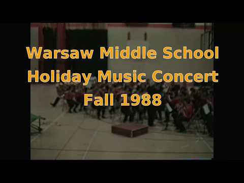 1988  Fall Warsaw Middle School Holiday Band and Choir concert - 7th and 8th grade