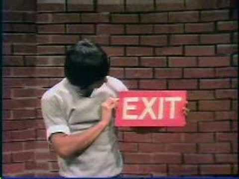 Sesame Street - Luis looks for the Exit