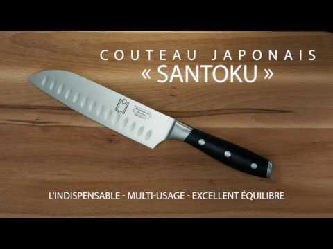 Le couteau japonais santoku metro professional youtube - Le petit couteau santoku ...
