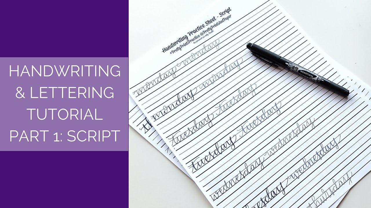 Handwriting Lettering Tutorial Part 1 Script