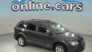 G98846TR Used 2017 Dodge Journey SXT FWD 4D Sport Utility Gray Test Drive, Review, For Sale