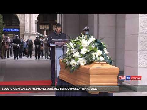 L'ADDIO A SINIGAGLIA: «IL PROFESSORE DEL BENE COMUNE» | 16/10/2020