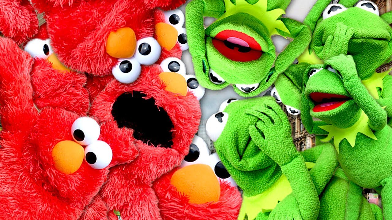 You Laugh You Lose Elmo And Kermit The Frog Meme Compilation