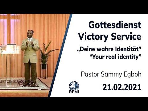 """RPMI-Gottesdienst - 21.02.2021 - Pastor Sammy Egboh """"Deine wahre Identität"""""""