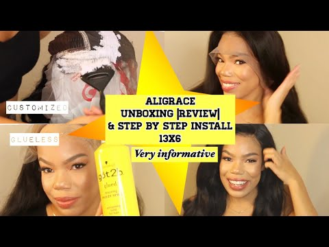 AliGrace Hair 13x6 Lace Front Unboxing Review| Install Tutorial thumbnail