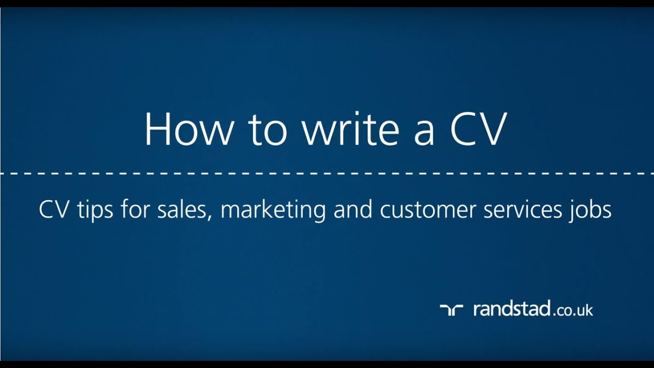 How to write a CV: CV tips for sales, marketing and customer services jobs