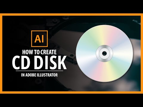 CD DISK in Adobe illustrator - vector tutorial thumbnail