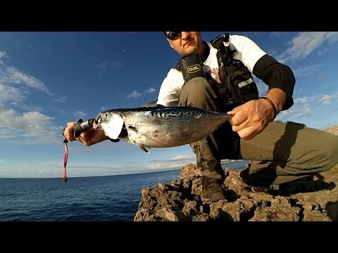 Light shore jigging. 10.11.2017. (two action cameras)
