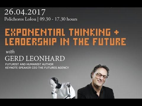 Sargia Leadership Event in Athens: Futurist Keynote Speaker Gerd Leonhard (Part1)