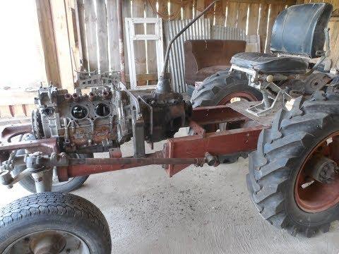 Самодельный трактор с двигателем заз , мост газ 66,кпп газ 51,+редуктор 2-1 БРЕСТ