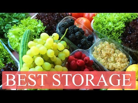 BEST STORAGE FOR FRUITS AND VEGGIES