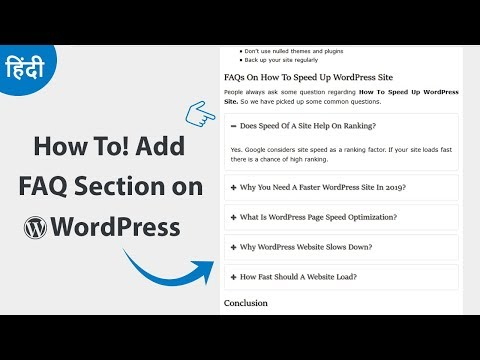 How to Add an FAQ Section on WordPress Website
