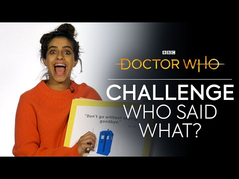 Who Said What? | Jodie Vs Mandip Vs Tosin | Doctor Who