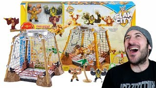 EPIC WWE MATTEL PLAYSET - SLAM CITY GORILLA IN THE CELL RING!!!