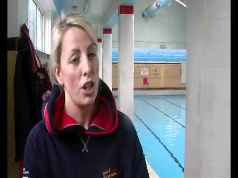 Girls-only swimming at Bishop Gore School, Swansea - YouTube