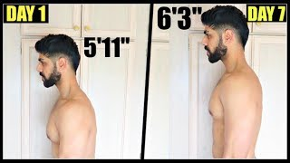 How To Grow Taller 2-4 INCHES In 1 Week - THIS WORKS!!