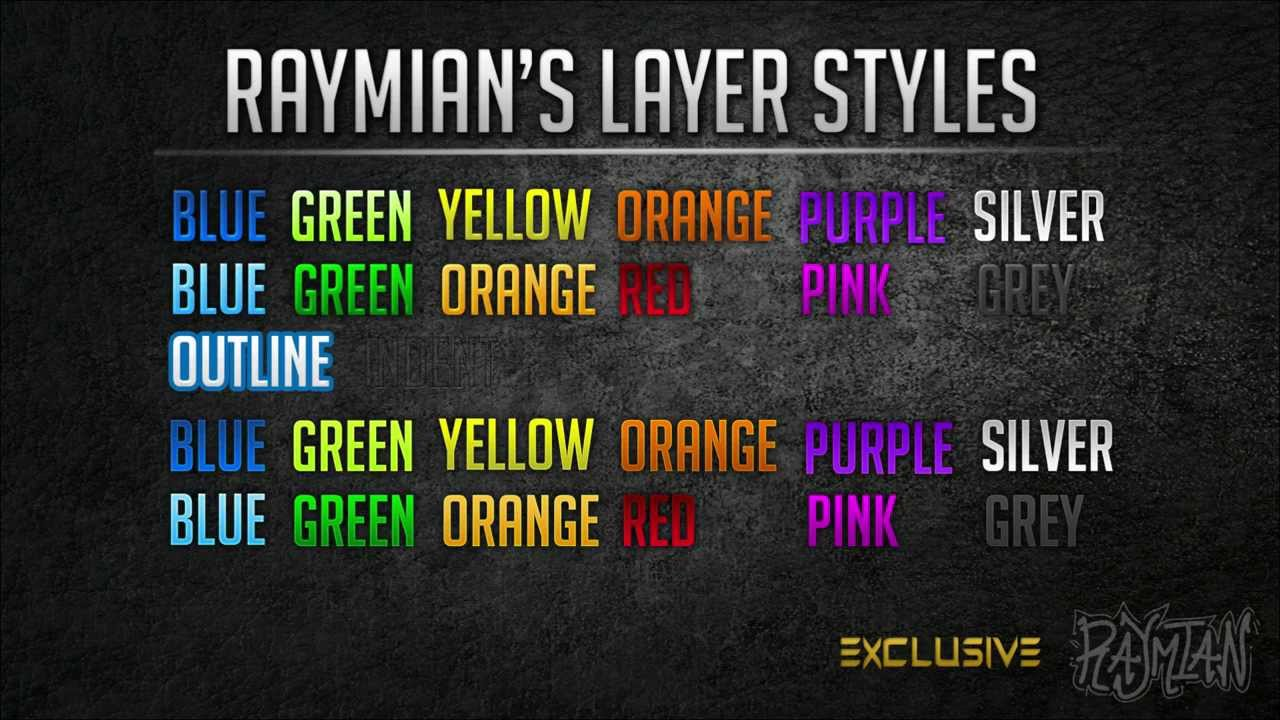 FREE Photoshop Layer Styles Pack!! FOR GRAPHIC DESIGNERS! - YouTube