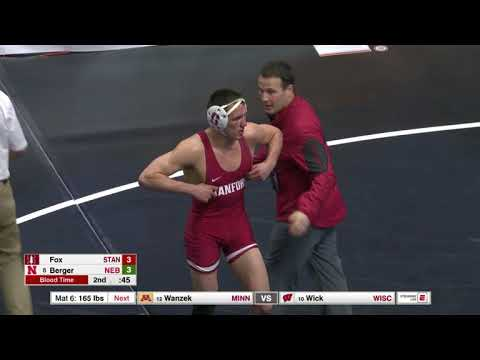 2018 NCAA Wrestling 157lbs: Tyler Berger (Nebraska) Dec Paul Fox (Stanford)