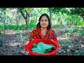 Vegetable Recipe: Bengali Arum Spinach Paste Recipe in Village | Village Food Factory