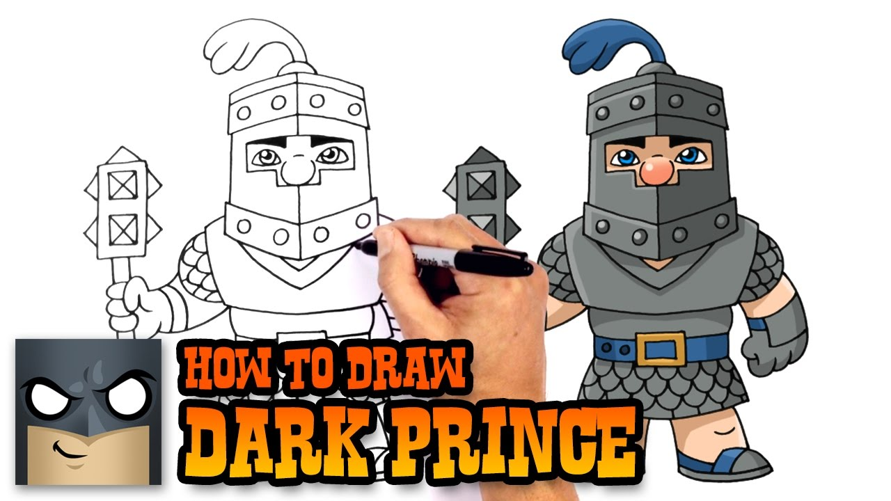 How to Draw Clash Royale Dark Prince YouTube