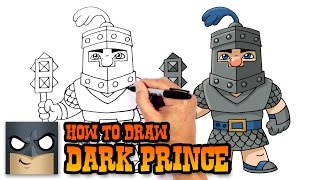 How to Draw Dark Prince | Clash Royale