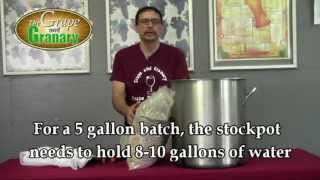 Brew In A Bag- All Grain Beer Brewing Demo