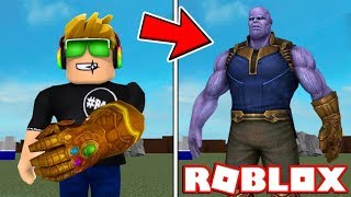 FIGHTING AGAINST THANOS AND STEALING HIS POWERS in ROBLOX SUPERHERO TYCOON