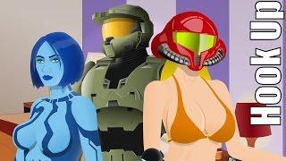 Cartoon Hook-Ups: Master Chief, Cortana and Samus (REVISED)