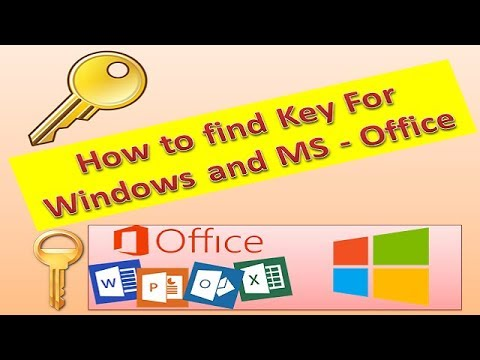 how to find key in office