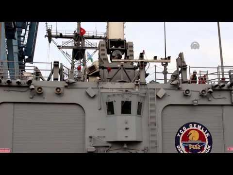 Turkish Frigate Gemlik arrives at Djibouti