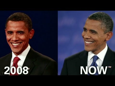 Going gray: Obama throughout the years