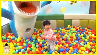 Indoor Playground Learn Colors Fun for Kids Family Play Slide Rainbow Colors Ball | MariAndKids Toys
