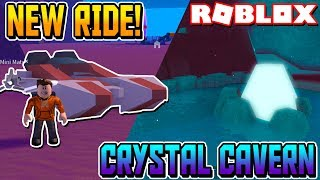 Visiting the Crystal Caverns & Getting a New Ride! in Roblox Space Mining Tycoon #4