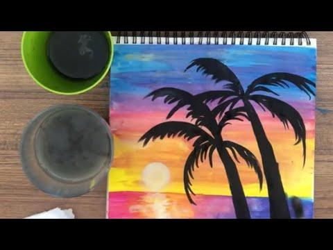 Kolay Karakalem Manzara Çizimleri - Karakalem Çizimleri Kolay Nasıl Yapılır - Çizim Mektebi 2021