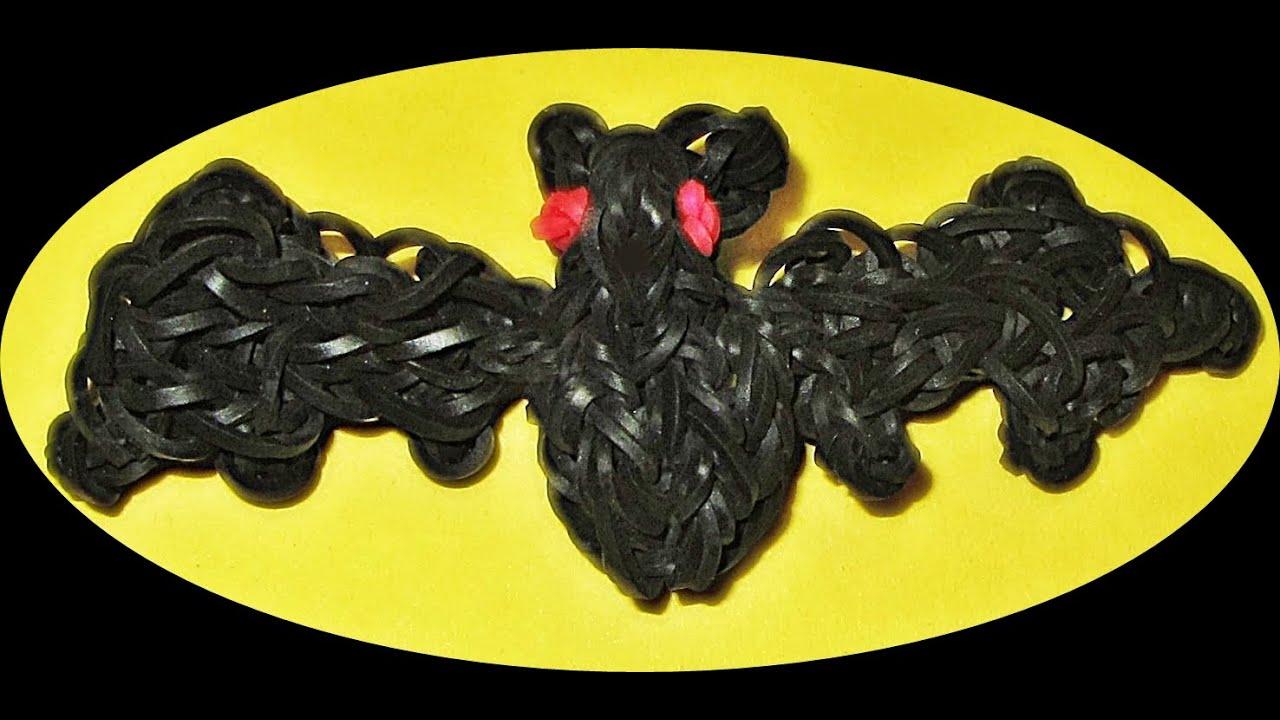 rainbow loom halloween charms bat how to make a loom bands