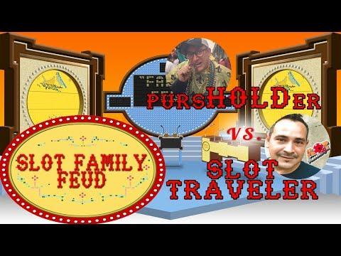 #SlotFamily Feud - GAME SHOW - SLOT TRAVELER vs pursHOLDer Greg - LIVE CHAT