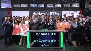 Horizons ETFs opens Toronto Stock Exchange, February 12, 2020