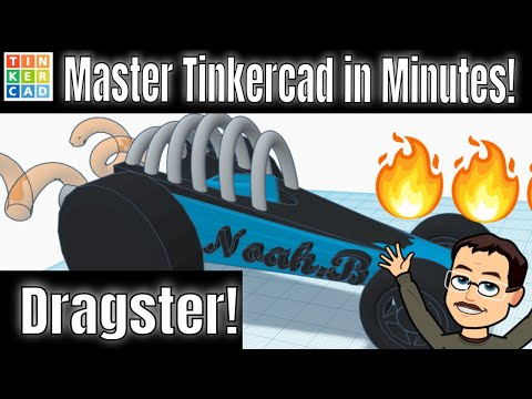 Design A Terrific Tinkercad Dragster | Freaky FAST! #TinkerTogether