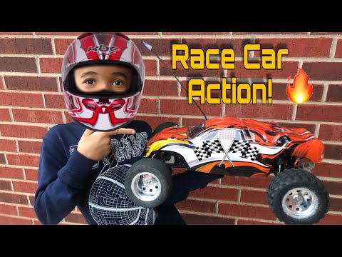 Kid Plays With RC Car | Kid RC Car Challenges