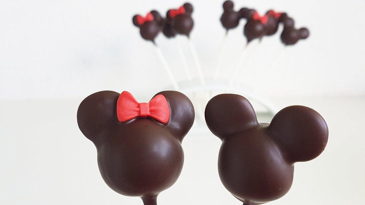 Einfache Minnie Micky Maus Cake Pops Minnie Mickey Mouse Cake Pops Youtube