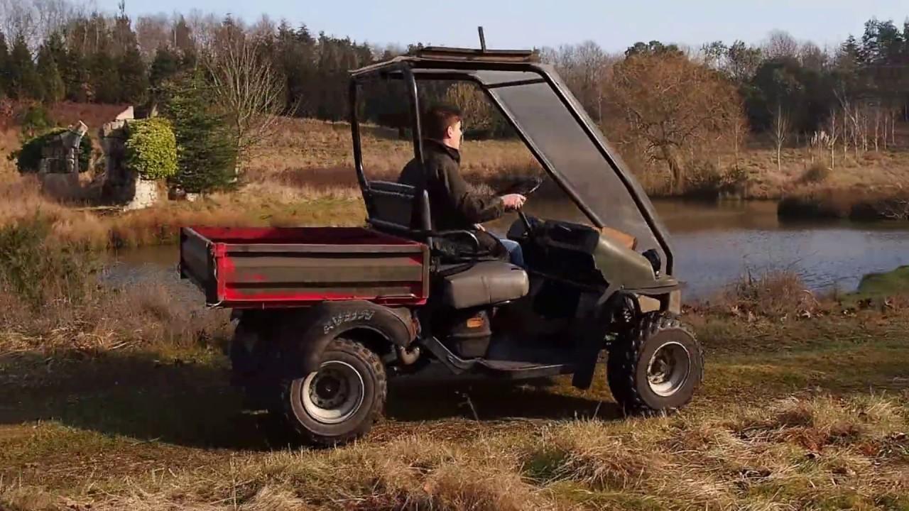 Kawasaki mule 550 KAF300C running and driving - YouTube