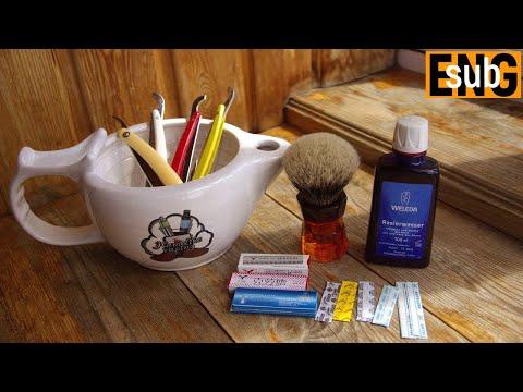 403 ZY Straight Edge Razor, Sedef, NSC Shaving Soap Birch, Yaqi 26 мм Moka Express, Weleda бритьё